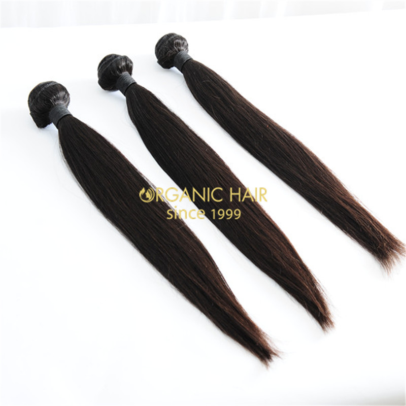 Virgin straight peruvian human hair weave
